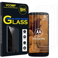 """Motorola Moto G6 Play XT1922 5.7"""" (non compatible Moto G6/ G6 Plus): Lot / Pack de 3 Films de protection d'écran Verre Trempé"""