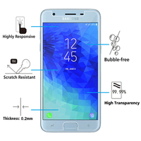 "Samsung Galaxy J3 (2018) SM-J377A 5.0""/ J3 Star/ Galaxy Amp Prime 3 (non compatible Galaxy J3 Version 2017/ 2016/ 2015): 1 Film de protection d'écran Verre Trempé"