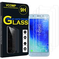 """Samsung Galaxy J3 (2018) SM-J377A 5.0""""/ J3 Star/ Galaxy Amp Prime 3 (non compatible Galaxy J3 Version 2017/ 2016/ 2015): Lot / Pack de 3 Films de protection d'écran Verre Trempé"""