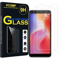"""Xiaomi Redmi 6A 5.45"""": Lot / Pack de 2 Films de protection d'écran Verre Trempé"""