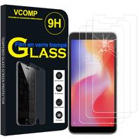 """Xiaomi Redmi 6A 5.45"""": Lot / Pack de 3 Films de protection d'écran Verre Trempé"""