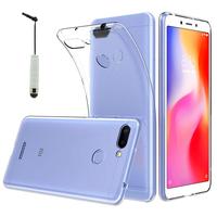 "Xiaomi Redmi 6 5.45"": Accessoire Housse Etui Coque gel UltraSlim et Ajustement parfait + mini Stylet - TRANSPARENT"