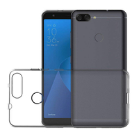 """Asus Zenfone Max Plus (M1) ZB570TL 5.7"""": Accessoire Housse Etui Coque gel UltraSlim et Ajustement parfait + mini Stylet - TRANSPARENT"""