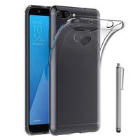 """Asus Zenfone Max Plus (M1) ZB570TL 5.7"""": Accessoire Housse Etui Coque gel UltraSlim et Ajustement parfait + Stylet - TRANSPARENT"""