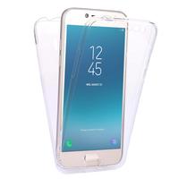 """Samsung Galaxy J2 Pro (2018) SM-J250F/ Galaxy Grand Prime Pro (2018) 5.0"""": Coque Housse Silicone Gel TRANSPARENTE ultra mince 360° protection intégrale Avant et Arrière - TRANSPARENT"""