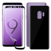 """Samsung Galaxy S9 5.8"""": Film de protection PET 3D souple intégrale avant + arrière film incurvé plein écran [Coque Compatible] [pas Verre Trempé]"""