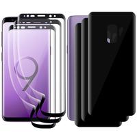 """Samsung Galaxy S9 5.8"""": Lot/ Pack 3 Films de protection PET 3D souple intégrale avant + arrière film incurvé plein écran [Coque Compatible] [pas Verre Trempé]"""