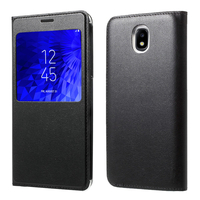 "Samsung Galaxy J7 (2018) 5.5"" (non compatible Galaxy J7 Version 2015/ 2016/ 2017): Etui View Case Flip Folio Leather cover - NOIR"