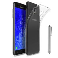"""Samsung Galaxy J7 (2018) 5.5"""" (non compatible Galaxy J7 Version 2015/ 2016/ 2017): Accessoire Housse Etui Coque gel UltraSlim et Ajustement parfait + Stylet - TRANSPARENT"""