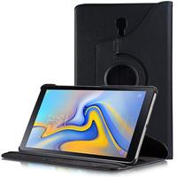 """Samsung Galaxy Tab A 10.5 (2018) SM-T590/ T595 10.5"""" [Les Dimensions EXACTES du telephone: 260 x 161.1 x 8 mm]: Accessoire Etui Housse Coque avec support Et Rotative Rotation 360° en cuir PU - NOIR"""