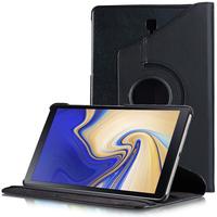 """Samsung Galaxy Tab S4 10.5 (2018) SM-T830 T835 10.5"""" [Les Dimensions EXACTES du telephone: 249.3 x 164.3 x 7.1 mm]: Accessoire Etui Housse Coque avec support Et Rotative Rotation 360° en cuir PU - NOIR"""