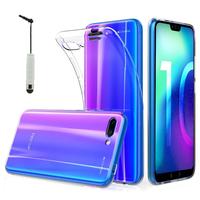 """Huawei Honor 10/ Honor 10 GT 5.84"""" (non compatible Huawei Honor View 10 5.99""""): Accessoire Housse Etui Coque gel UltraSlim et Ajustement parfait + mini Stylet - TRANSPARENT"""