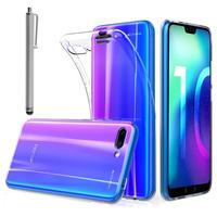"""Huawei Honor 10/ Honor 10 GT 5.84"""" (non compatible Huawei Honor View 10 5.99""""): Accessoire Housse Etui Coque gel UltraSlim et Ajustement parfait + Stylet - TRANSPARENT"""