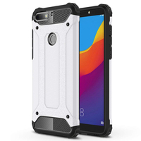 "Huawei Honor 7C (2018) 5.99""/ Huawei Enjoy 8: Coque Antichoc Rugged Armor Neo Hybrid carbone - ARGENT"
