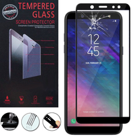 """Samsung Galaxy A6+/ A6 Plus (2018) 6.0""""/ Galaxy A9 Star Lite (non compatible Galaxy A6 (2018) 5.6""""): 1 Film 9h Protecteur D'écran Verre Trempé Anti-Cassé Plein 3d Couverture Bord En Fibre De Carbone"""