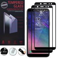 """Samsung Galaxy A6+/ A6 Plus (2018) 6.0""""/ Galaxy A9 Star Lite (non compatible Galaxy A6 (2018) 5.6""""): Lot / Pack de 2 Films 9h Protecteur D'écran Verre Trempé Anti-Cassé Plein 3d Couverture Bord En Fibre De Carbone"""