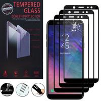 """Samsung Galaxy A6+/ A6 Plus (2018) 6.0""""/ Galaxy A9 Star Lite (non compatible Galaxy A6 (2018) 5.6""""): Lot / Pack de 3 Films 9h Protecteur D'écran Verre Trempé Anti-Cassé Plein 3d Couverture Bord En Fibre De Carbone"""