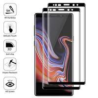 """Samsung Galaxy Note 9 6.4""""/ Note9 Duos SM-N960F/ SM-N960U/ SM-N960F/DS [Les Dimensions EXACTES du telephone: 161.9 x 76.4 x 8.8 mm]: Lot/ Pack de 2 Films en Verre Trempé Bord Incurvé Resistant"""