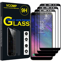 "Samsung Galaxy A6+/ A6 Plus (2018) 6.0""/ Galaxy A9 Star Lite (non compatible Galaxy A6 (2018) 5.6""): Lot / Pack de 3 Films de protection d'écran Verre Trempé"