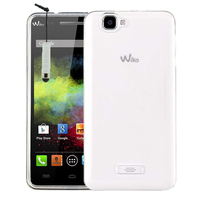 Wiko Rainbow 4G: Housse Coque TPU Silicone Gel Souple Translucide Ultra Fine + mini Stylet - TRANSPARENT