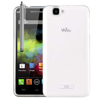 Wiko Rainbow 4G: Housse Coque TPU Silicone Gel Souple Translucide Ultra Fine + Stylet - TRANSPARENT