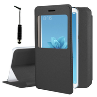 "Xiaomi Mi A2/ Mi 6X 5.99"": Etui View Case Flip Folio Leather cover + mini Stylet - NOIR"