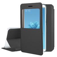 "Xiaomi Mi A2/ Mi 6X 5.99"": Etui View Case Flip Folio Leather cover - NOIR"