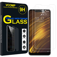 "Xiaomi Pocophone F1/ Poco F1 6.18"" M1805E10A: Lot / Pack de 2 Films de protection d'écran Verre Trempé"