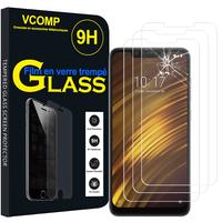 "Xiaomi Pocophone F1/ Poco F1 6.18"" M1805E10A: Lot / Pack de 3 Films de protection d'écran Verre Trempé"