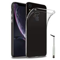 """Apple iPhone XR (2018) 6.1"""" A1984: Accessoire Housse Etui Coque gel UltraSlim et Ajustement parfait + mini Stylet - TRANSPARENT"""