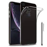 """Apple iPhone XR (2018) 6.1"""" A1984: Accessoire Housse Etui Coque gel UltraSlim et Ajustement parfait + Stylet - TRANSPARENT"""