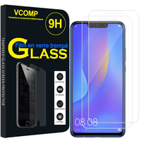 "Huawei P Smart+/ P Smart Plus/ Nova 3i 6.3"" INE-LX1/ LX2/ L21 (non compatible Huawei P smart 5.65""/ Nova 5.0""/ Nova 3): Lot / Pack de 2 Films de protection d'écran Verre Trempé"