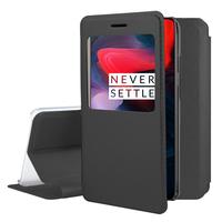 "OnePlus 6 6.28"": Etui View Case Flip Folio Leather cover - NOIR"