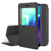 """Huawei Honor 10/ Honor 10 GT 5.84"""" (non compatible Huawei Honor View 10 5.99""""): Etui View Case Flip Folio Leather cover - NOIR"""