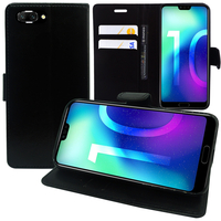 """Huawei Honor 10/ Honor 10 GT 5.84"""" (non compatible Huawei Honor View 10 5.99""""): Accessoire Etui portefeuille Livre Housse Coque Pochette support vidéo cuir PU - NOIR"""