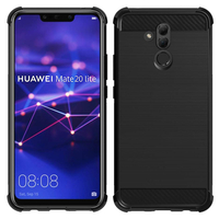 """Huawei Mate 20 Lite 6.3""""/ Maimang 7/ SNE-AL00/ SNE-LX1: Coque Housse Silicone Souple en Fibre de Carbone Brossé motif TPU Case - NOIR"""