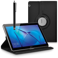 """Huawei MediaPad T3 10 (9.6"""") AGS-L09/ AGS-W09/ AGS-L03: Accessoire Etui Housse Coque avec support Et Rotative Rotation 360° en cuir PU + Stylet - NOIR"""