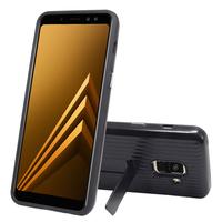 """Samsung Galaxy A8 (2018) A530F 5.6""""/ A8 (2018) Duos A530F/DS: Coque Robuste Armure Anti-choc combinaison TPU et PC Couverture Arrière avec be?quille - NOIR"""