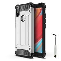 "Xiaomi Redmi S2 5.99"": Coque Antichoc Rugged Armor Neo Hybrid carbone + mini Stylet - ARGENT"