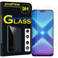 "Huawei Honor 8X 6.5"" (non compatible Honor 8X Max 7.12"") [Les Dimensions EXACTES du telephone: 160.4 x 76.6 x 7.8 mm]: Lot / Pack de 2 Films de protection d'écran Verre Trempé"