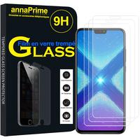 "Huawei Honor 8X 6.5"" (non compatible Honor 8X Max 7.12"") [Les Dimensions EXACTES du telephone: 160.4 x 76.6 x 7.8 mm]: Lot / Pack de 3 Films de protection d'écran Verre Trempé"
