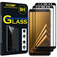 """Samsung Galaxy A8 (2018) A530F 5.6""""/ A8 (2018) Duos A530F/DS: Lot / Pack de 2 Films de protection d'écran Verre Trempé"""