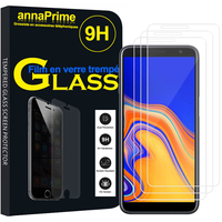 "Samsung Galaxy J4 Core (2018) 6.0"" (non compatible Galaxy J4 5.5"") [Les Dimensions EXACTES du telephone: 161.4 x 76.9 x 7.9 mm]: Lot / Pack de 3 Films de protection d'écran Verre Trempé"
