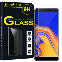 "Samsung Galaxy J6+/ J6 Plus (2018) 6.0"" (non compatible Galaxy J6 (2018) 5.6"") [Les Dimensions EXACTES du telephone: 161.4 x 76.9 x 7.9 mm]: 1 Film de protection d'écran Verre Trempé"