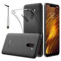 """Xiaomi Pocophone F1/ Poco F1 6.18"""" M1805E10A: Accessoire Housse Etui Coque gel UltraSlim et Ajustement parfait + mini Stylet - TRANSPARENT"""
