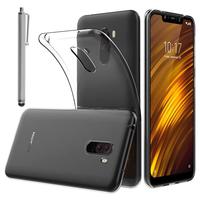 """Xiaomi Pocophone F1/ Poco F1 6.18"""" M1805E10A: Accessoire Housse Etui Coque gel UltraSlim et Ajustement parfait + Stylet - TRANSPARENT"""