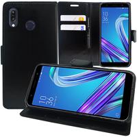 """Asus Zenfone Max Pro (M1) ZB601KL/ ZB602KL 5.99"""" (non compatible Zenfone Max Plus (M1) ZB570TL/ Zenfone Max (M1) ZB555KL/ ZB556KL): Accessoire Etui portefeuille Livre Housse Coque Pochette support vidéo cuir PU - NOIR"""
