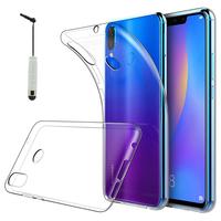"""Huawei P Smart+/ P Smart Plus/ Nova 3i 6.3"""" INE-LX1/ LX2/ L21 (non compatible Huawei P smart 5.65""""/ Nova 5.0""""/ Nova 3): Accessoire Housse Etui Coque gel UltraSlim et Ajustement parfait + mini Stylet - TRANSPARENT"""