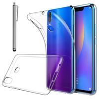 """Huawei P Smart+/ P Smart Plus/ Nova 3i 6.3"""" INE-LX1/ LX2/ L21 (non compatible Huawei P smart 5.65""""/ Nova 5.0""""/ Nova 3): Accessoire Housse Etui Coque gel UltraSlim et Ajustement parfait + Stylet - TRANSPARENT"""
