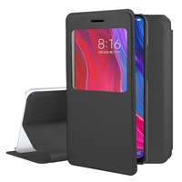 "Xiaomi Mi 8/ Xiaomi Mi8 6.21"" (non compatible Xiaomi Mi 8 SE 5.88""/ Mi 8 Lite 6.26""/ Mi 8 Youth (Mi 8X)): Etui View Case Flip Folio Leather cover - NOIR"